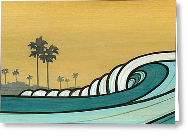 Surfing Art Greeting Cards - California Sky Greeting Card by Joe Vickers