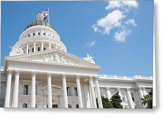 Initiative Greeting Cards - California State Capitol in Sacramento Greeting Card by Brandon Bourdages