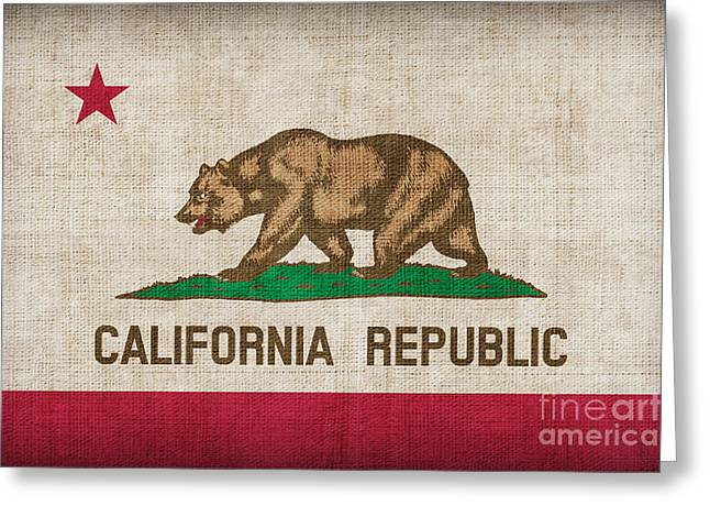 Pixel Chimp Greeting Cards - California State flag Greeting Card by Pixel Chimp