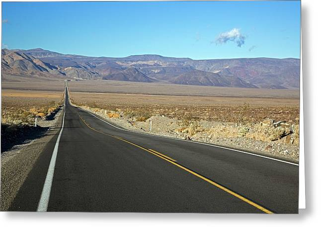California State Highway Greeting Card by Jim West