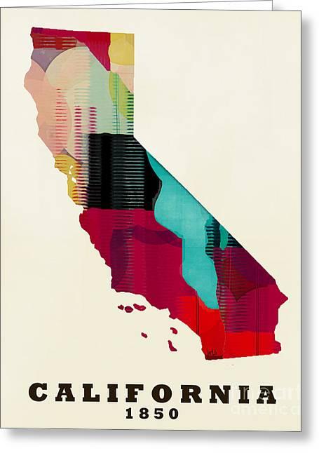 California State Map Modern Greeting Card by Bri B