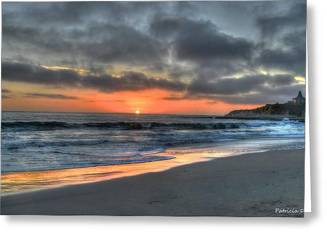 Santa Cruz Greeting Cards - California Sunset  Greeting Card by Patricia Dennis