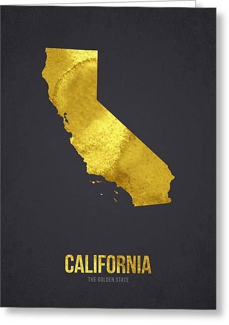 California Beaches Mixed Media Greeting Cards - California The Golden State Greeting Card by Aged Pixel
