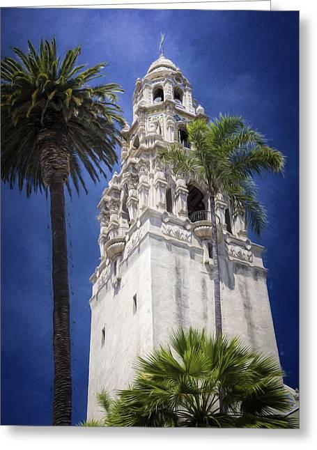 California Tower Balboa Park Greeting Card by Joan Carroll
