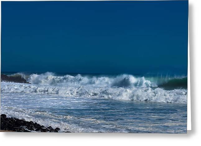 Ventura California Greeting Cards - California Waves Greeting Card by Llr Romine