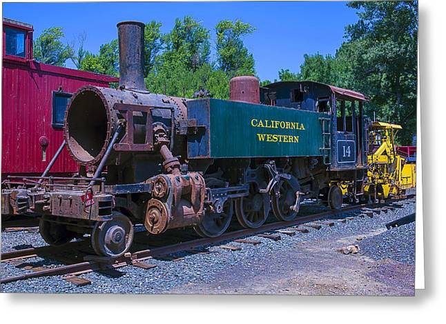 Number One Greeting Cards - California Western Number 14 Greeting Card by Garry Gay