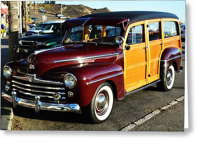 Station Wagon Greeting Cards - California Woddy Greeting Card by Barbara Snyder