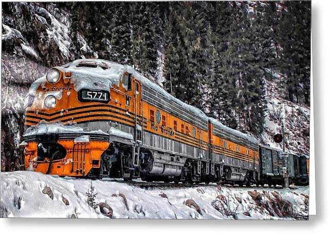 Colorado Railroad Museum Greeting Cards - California Zephyr Greeting Card by Ken Smith