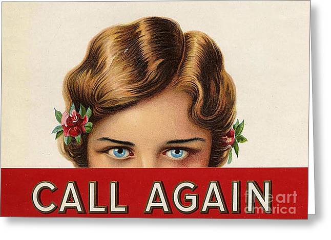 WomenÕs Drawings Greeting Cards - Call Again  1920s Usa Mcitnt Womens Greeting Card by The Advertising Archives