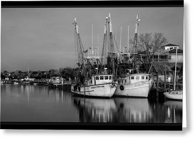 Shrimp Boat Captains Greeting Cards - Call It A Night Greeting Card by Tiffany Reed Briley