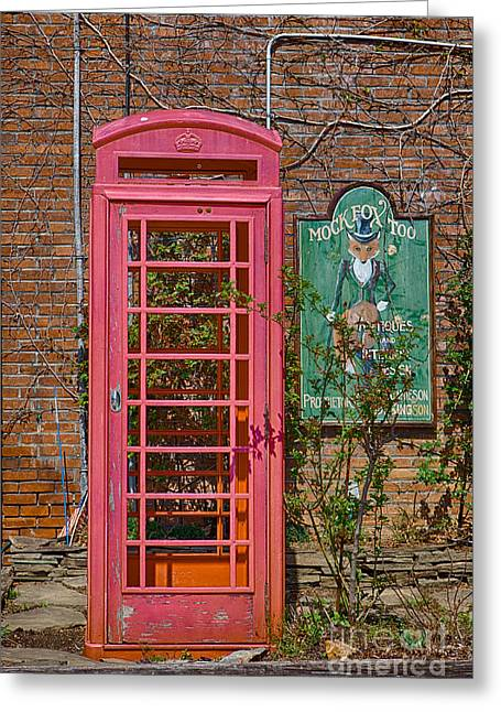 Kaypickens.com Photographs Greeting Cards - Call Me - Abandoned Phone Booth Greeting Card by Kay Pickens