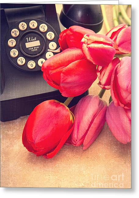 Desk Greeting Cards - Call Me My Love Greeting Card by Edward Fielding