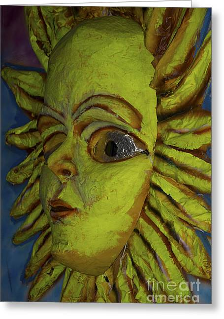 Papier Mache Greeting Cards - Call Me Sunshine Greeting Card by Al Bourassa