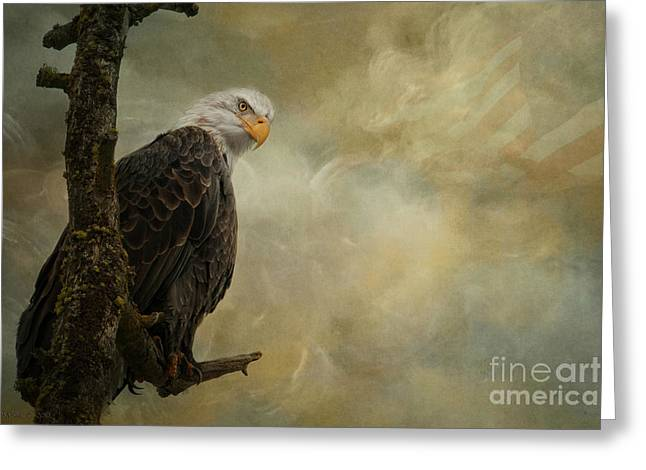 Eagle Greeting Cards - Call of Honor Greeting Card by Reflective Moment Photography And Digital Art Images