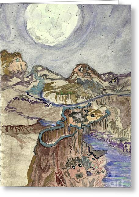 Call Of The Night Greeting Card by Angela Pelfrey