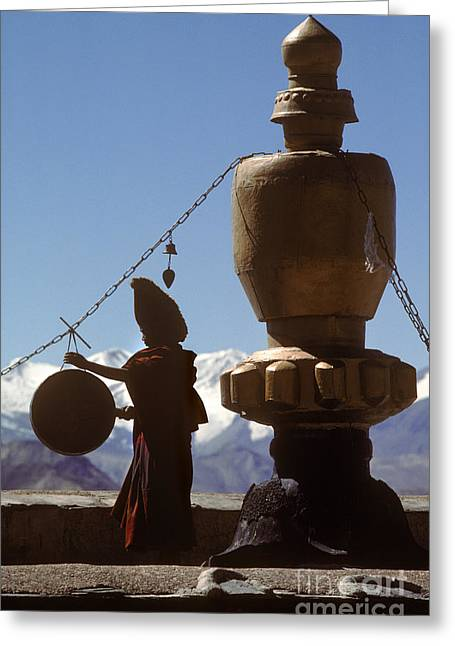 Call To Prayer - Gyantse Tibet Greeting Card by Craig Lovell