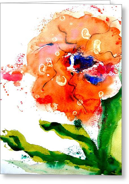 Red Abstracts Greeting Cards - Call Up The Wind Greeting Card by Beverley Harper Tinsley