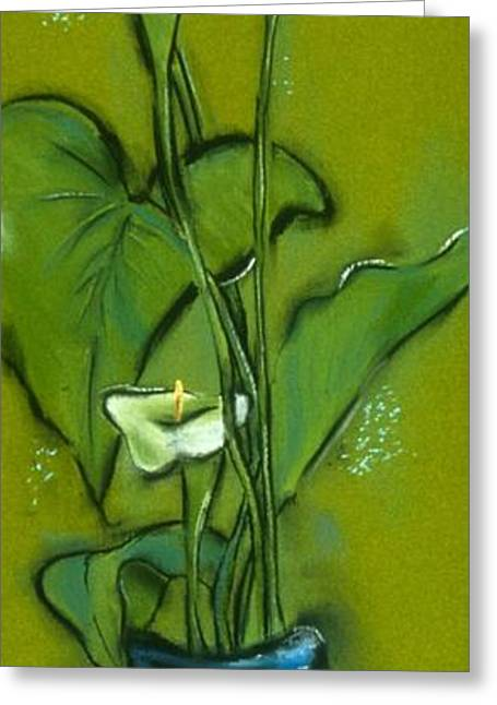 Calla Lily Pastels Greeting Cards - Calla Lilies Greeting Card by Danyl Cook
