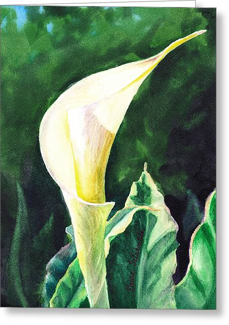 Calla Greeting Cards - Calla Lily Greeting Card by Irina Sztukowski