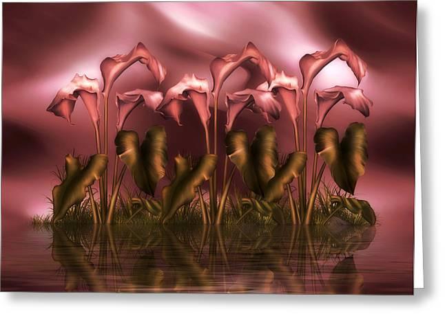 Calla Lily Island Greeting Card by Georgiana Romanovna