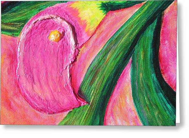Santa Cruz Ca Paintings Greeting Cards - Calla Lily Greeting Card by Phoenix The Moody Artist