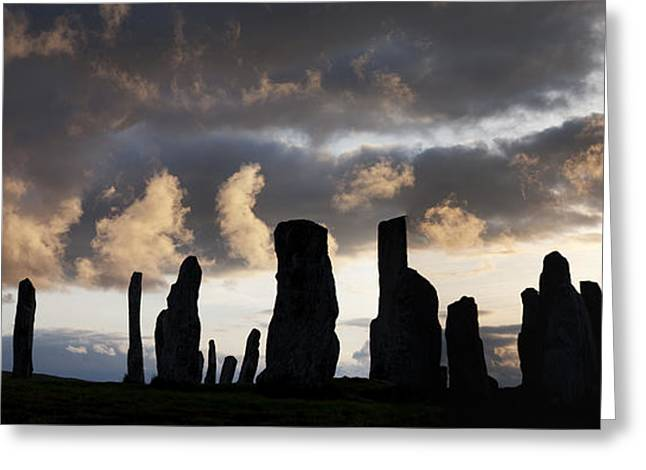Sacred Circle Greeting Cards - Callanish Standing Stones Greeting Card by Tim Gainey