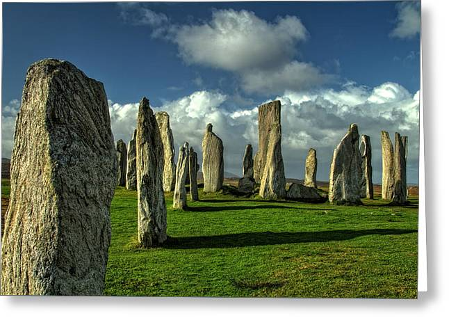 Monolith Greeting Cards - Callanish Stones Greeting Card by Robert Murray