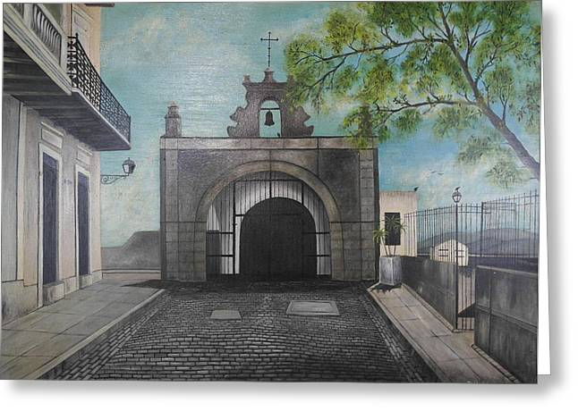 Adoquines Greeting Cards - Calle del Cristo Greeting Card by Maurice Dilan