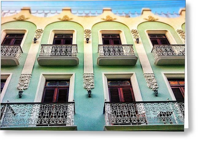 Old San Juan Greeting Cards - Calle Luna Greeting Card by Olivier Calas