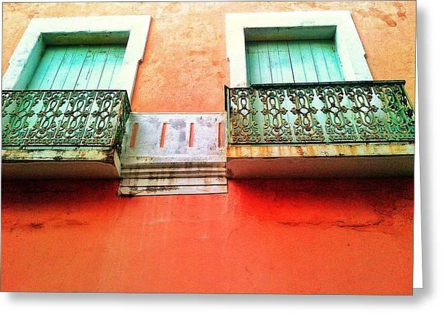 Old San Juan Greeting Cards - Calle Tetuan Greeting Card by Olivier Calas