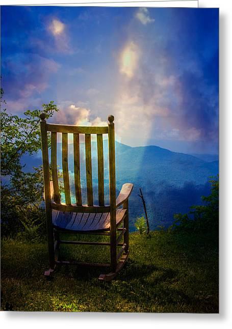 Appalachian Greeting Cards - Just Imagine Greeting Card by John Haldane