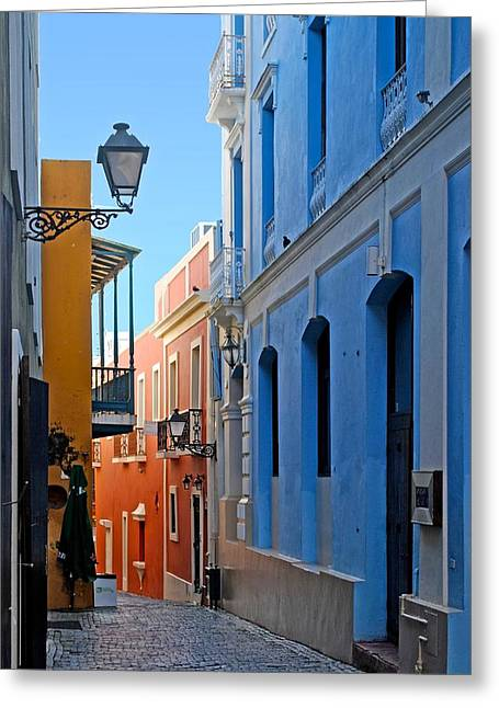 Paseo La Princesa De San Juan Greeting Cards - Callejon de San Francisco Greeting Card by Ricardo J Ruiz de Porras