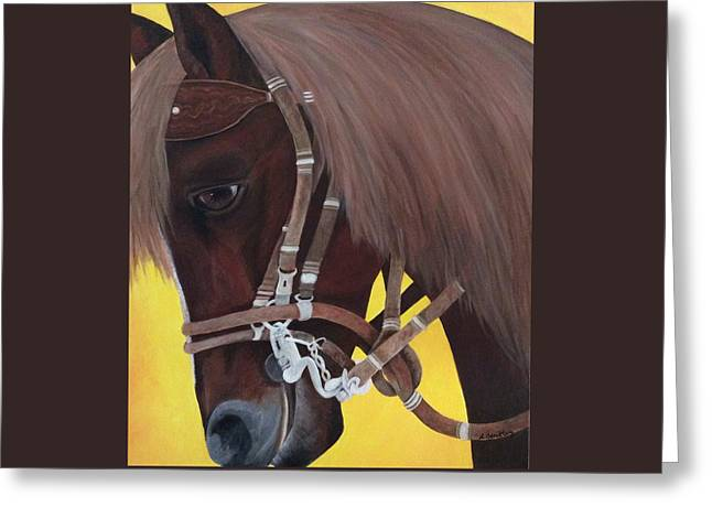 Lisa Bentley Greeting Cards - Callie Greeting Card by Lisa Bentley