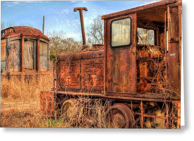 Abandoned Train Greeting Cards - The Little Engine Greeting Card by JC Findley