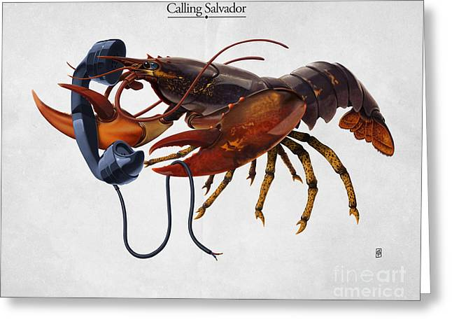 Calling Mixed Media Greeting Cards - Calling Salvador Greeting Card by Rob Snow