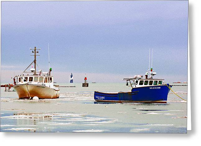 Cohasset Greeting Cards - Calm After the Storm Greeting Card by Carol Sutherland
