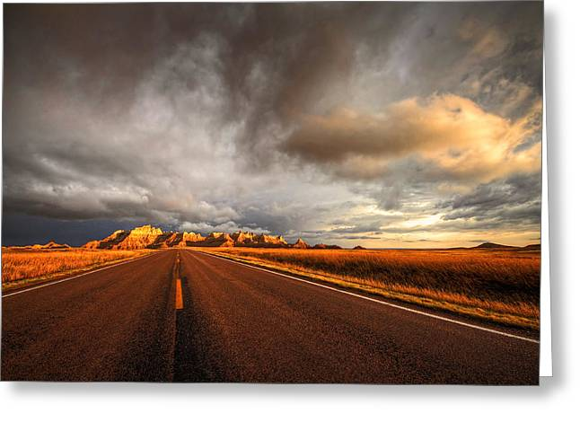 Roadway Greeting Cards - Calm After The Storm Greeting Card by Chris  Allington
