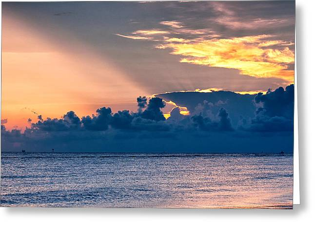 Storm Cloud On The Horizon Greeting Cards - Calm After the Storm Greeting Card by Victor Culpepper