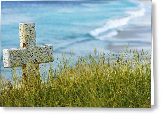 Historical Cemetery Greeting Cards - Calm Greeting Card by Aged Pixel