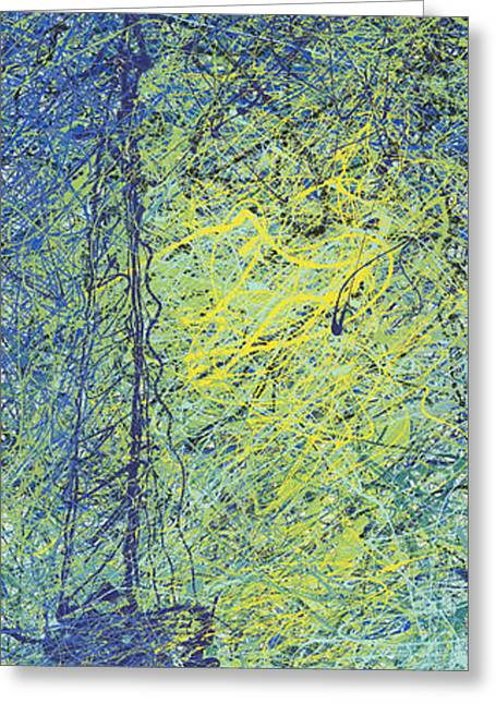 Abstract Expressionist Greeting Cards - Calm Greeting Card by Ash Hussein