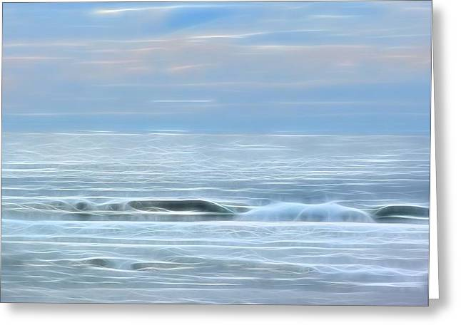 Ocean Art Photography Greeting Cards - Calm Before the Storm Greeting Card by Connie Andrews