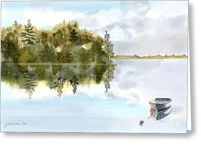 Joan A Hamilton Greeting Cards - Calm Before The Storm Greeting Card by Joan A Hamilton
