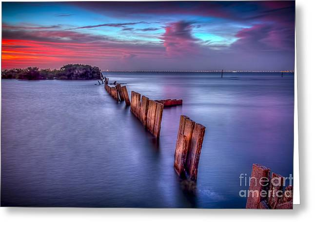 Florida Bridge Greeting Cards - Calm Before The Storm Greeting Card by Marvin Spates