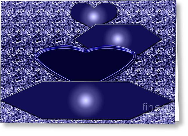 Installation Art Greeting Cards - Calm blue five Greeting Card by Tina M Wenger