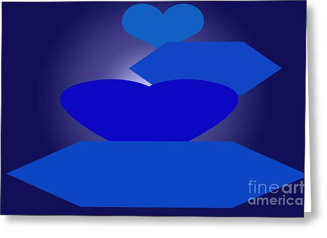 Installation Art Greeting Cards - Calm Blue Four Greeting Card by Tina M Wenger