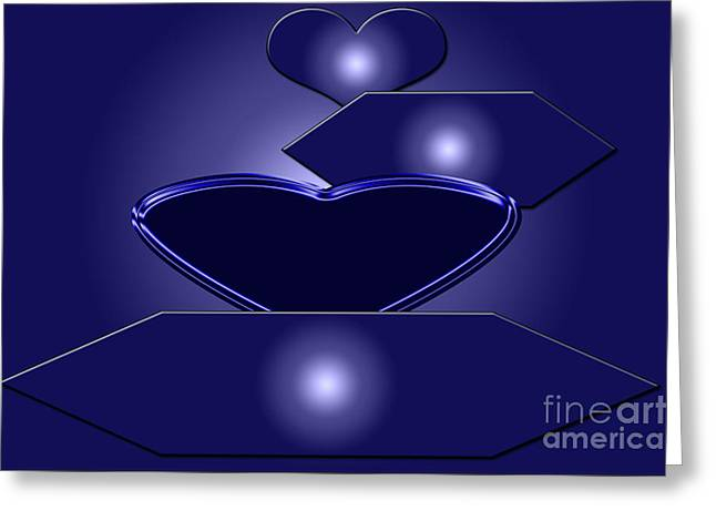 Installation Art Greeting Cards - Calm Blue One Greeting Card by Tina M Wenger