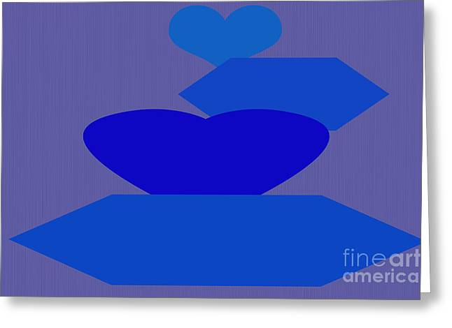 Installation Art Greeting Cards - Calm Blue Two Greeting Card by Tina M Wenger