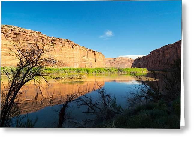 Calm Colorado River Greeting Card by Michael J Bauer