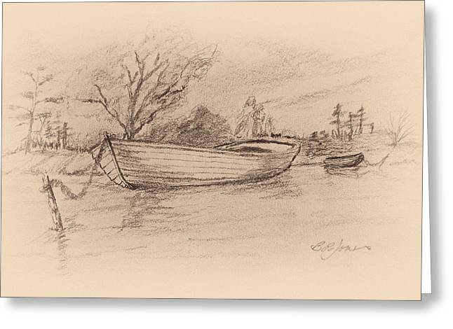 Barry Styles Greeting Cards - Calm Day on the Lake Greeting Card by Barry Jones