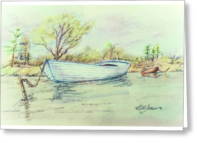 Barry Styles Greeting Cards - Calm Day on the Lake-wc Greeting Card by Barry Jones